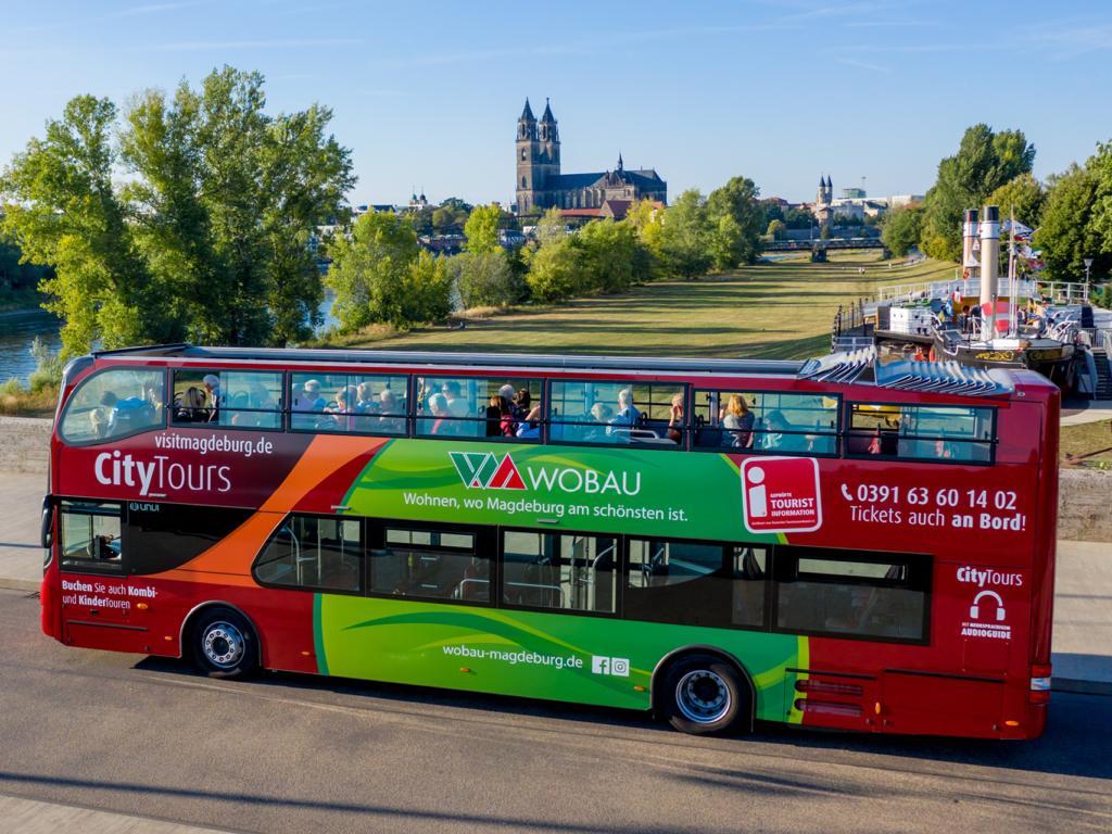 Bild vom Doppeldeckerbus - Stadt Magdeburg