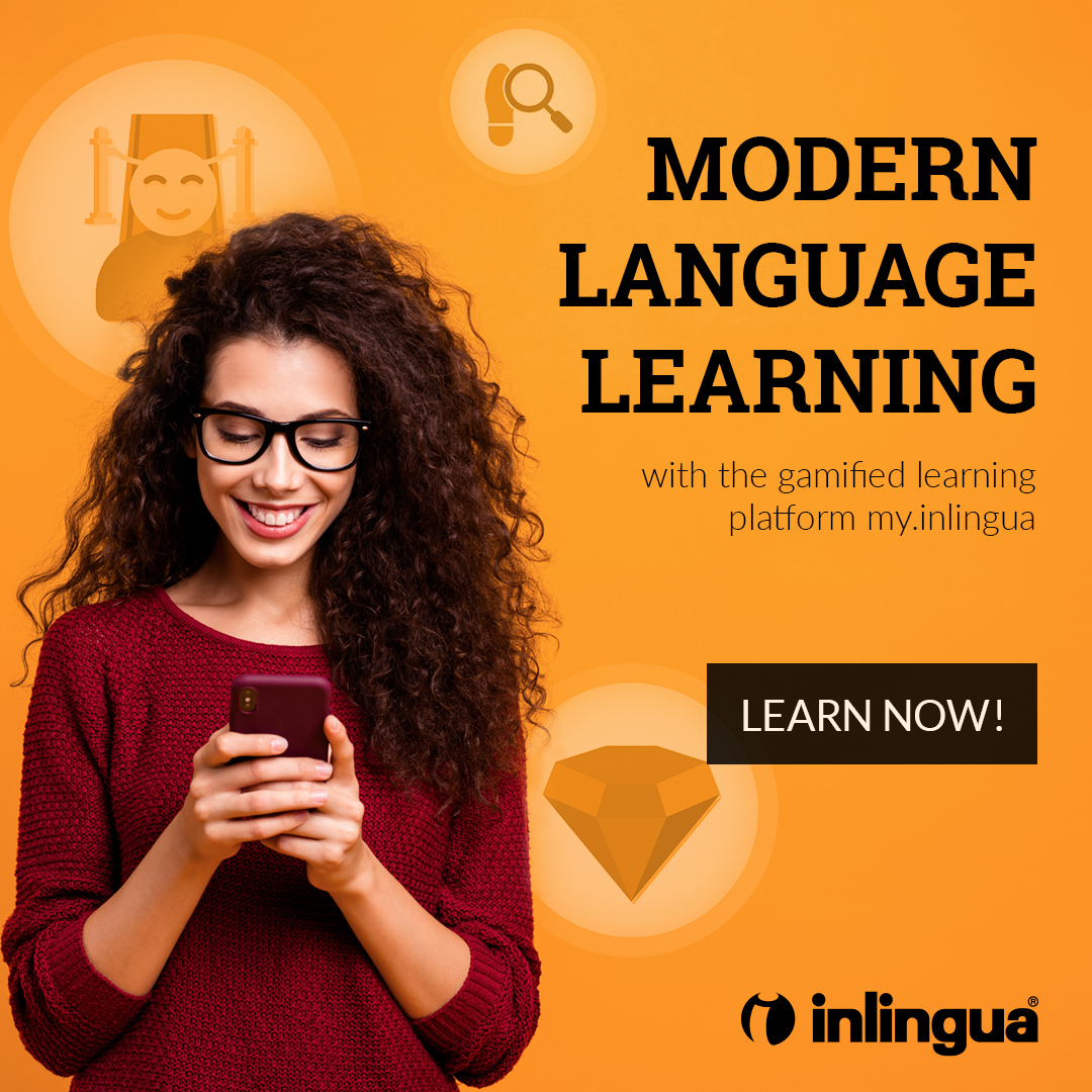 Frau am Smartphone - Angebot Modern Language Learning