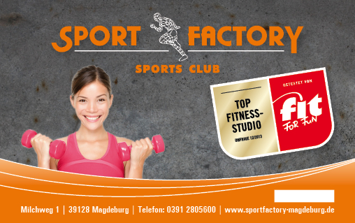 Sport Factory Magdeburg - Fitnessstudio - ClubCard