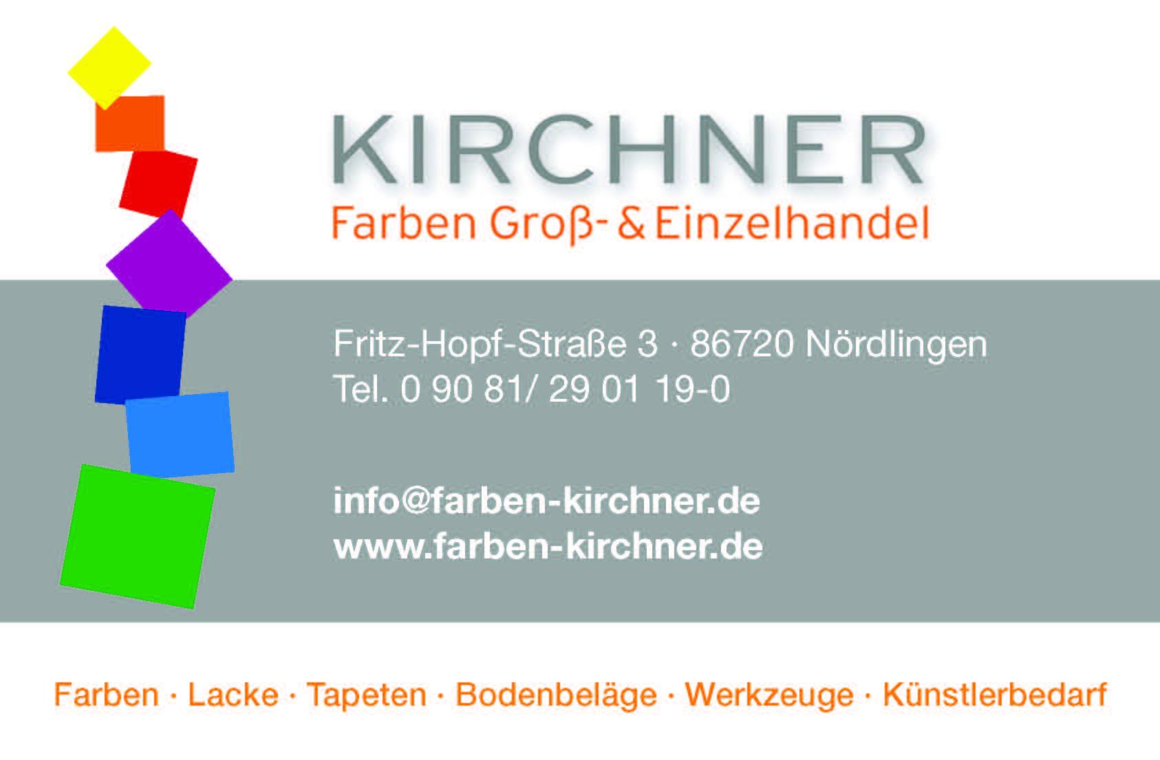 Kirchner Farbengroßhandel - Azubicard Schwaben