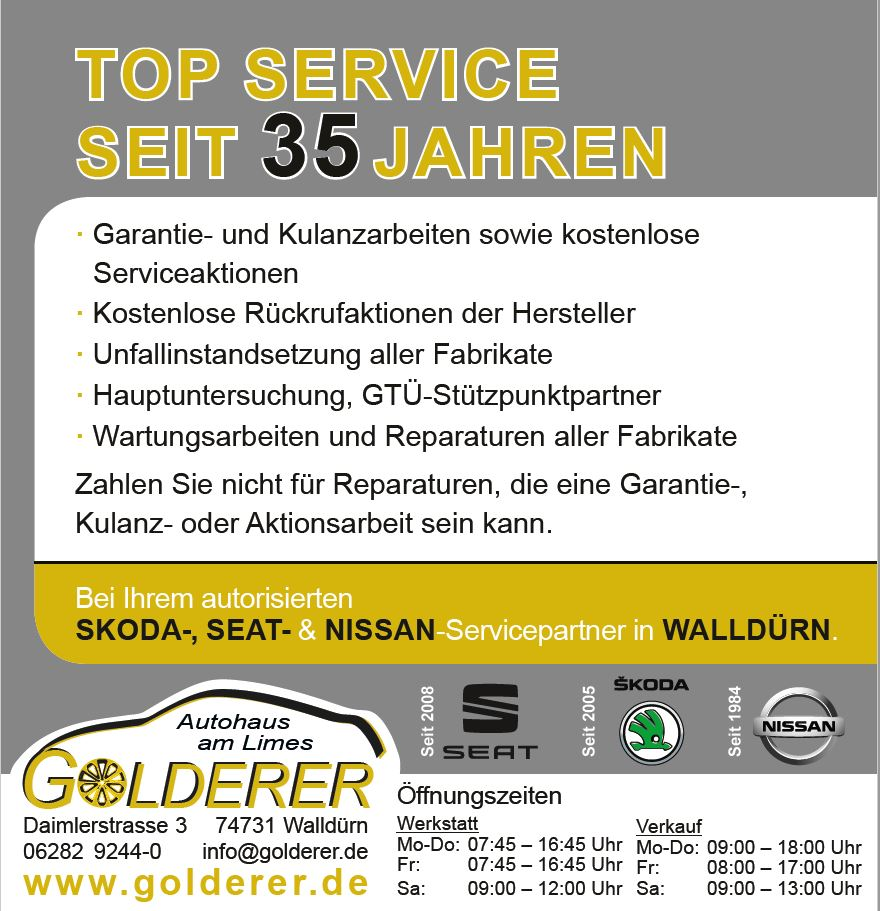 Azubicard - Autohaus Golderer in Walldürn