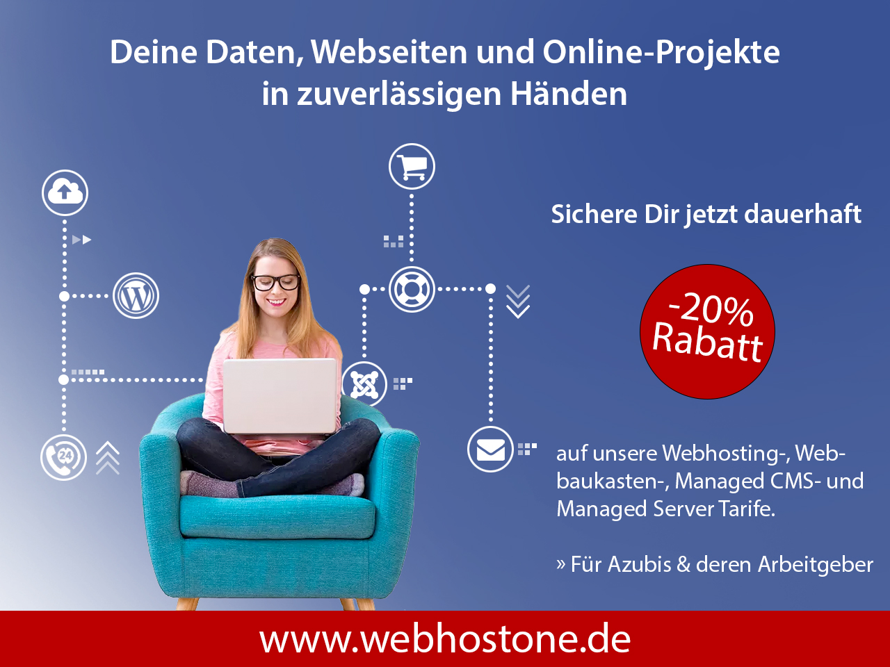 WebhostOne GmbH - 20% Rabatt auf Webhosting Tarife und Managed Server