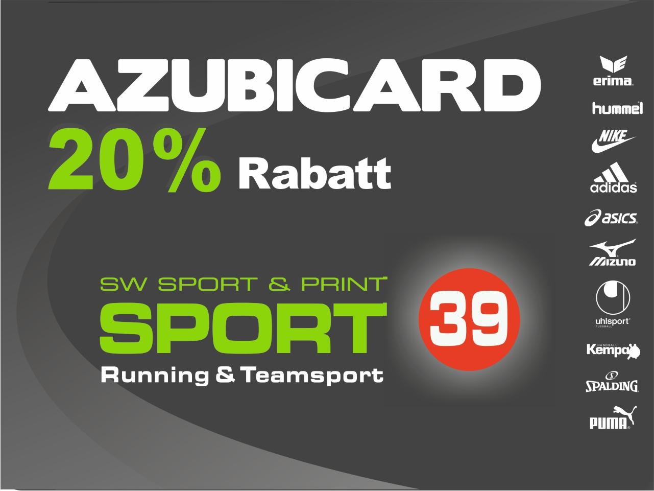 Angebot AzubiCard 20% Rabatt bei Kauf im Geschäft